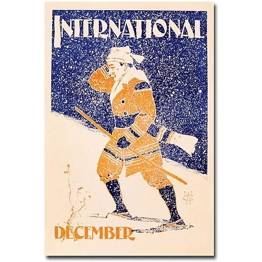 "Trademark Global ""Interantional Magazine, December Issue, 1898"" Canvas Art, 47"" x 30"""