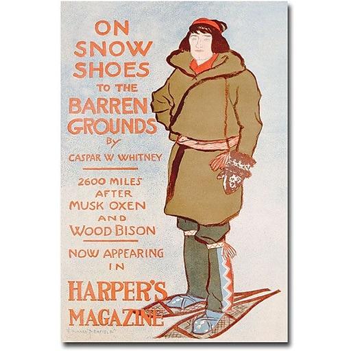 "Trademark Global Caspar Whitney ""On Snow Shoes 1899"" Canvas Art, 47"" x 30"""