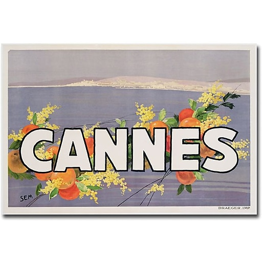 "Trademark Global Georges Goursat ""Cannes, 1930s"" Canvas Art, 30"" x 47"""
