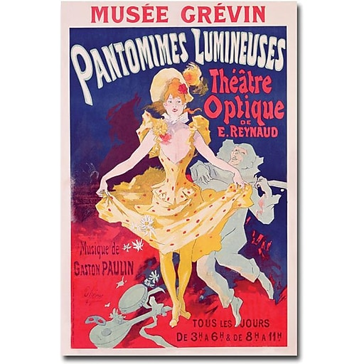 "Trademark Global Jules Cheret ""Pantomimes Lumineuses, 1892"" Canvas Art, 47"" x 30"""