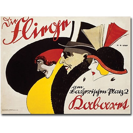 "Trademark Global Hans Rudi Erdt ""Die Fliege 1913"" Canvas Art, 16"" x 24"""