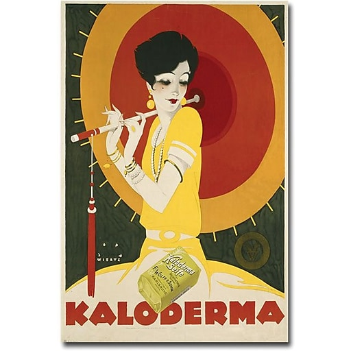 "Trademark Global Jupp Wiertz ""Kaloderma Soap, 1927"" Canvas Art, 47"" x 35"""