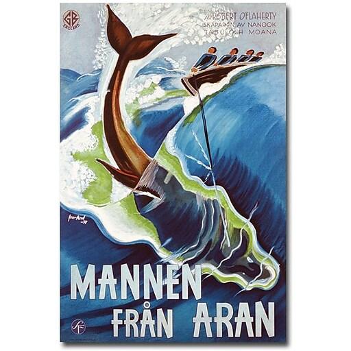 "Trademark Global J.Olsens Lito ""Mannen Fran Aran, 1937"" Canvas Art, 24"" x 16"""