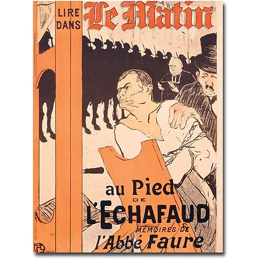 """Trademark Global Henri Toulouse Lautrec """"L'Abbe Faure dans Le Matin"""" Canvas Art, 24"""" x 18"""""""