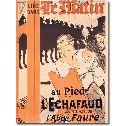 """Trademark Global Henri Toulouse Lautrec """"L'Abbe Faure dans Le Matin"""" Canvas Art, 32"""" x 24"""""""