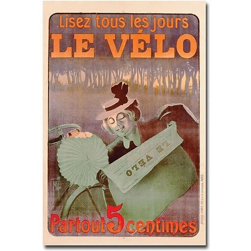 "Trademark Global Ferdinand Misiti ""Le Velo 1899"" Canvas Art, 47"" x 30"""