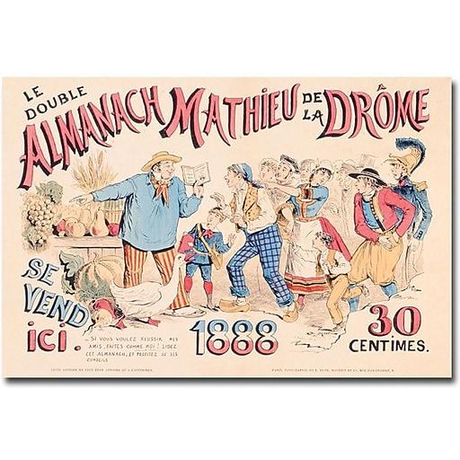 "Trademark Global ""Almanach Mathieu de la Drome, 1888"" Canvas Art, 30"" x 47"""