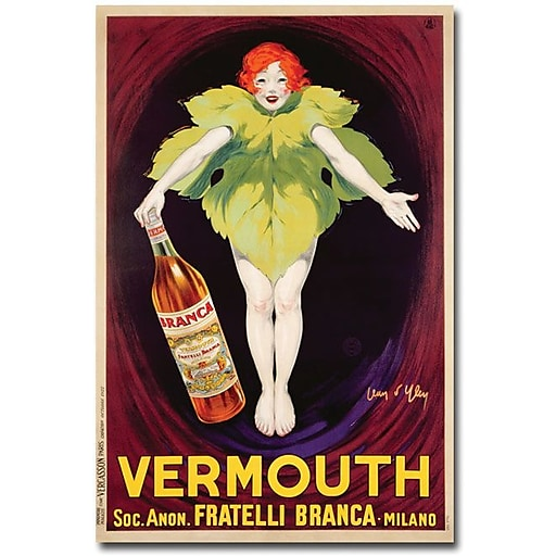 "Trademark Global Jean d'Ylen ""Fatelli Branca Vermouth, 1922"" Canvas Art, 47"" x 30"""