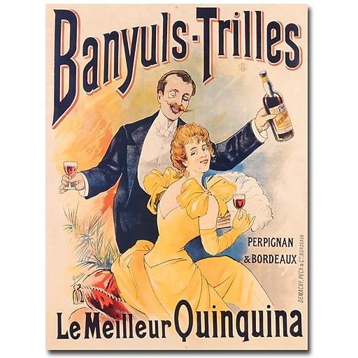"""Trademark Global """"Banyuls-Trilles Quinquina, 1898"""" Canvas Art, 24"""" x 18"""""""