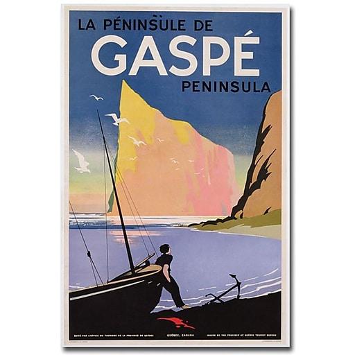 "Trademark Global ""Gaspe Peninsula Quebec 1939"" Canvas Art, 47"" x 30"""