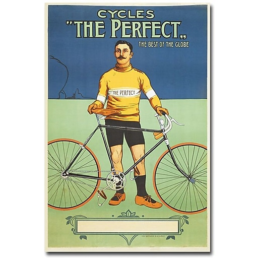 """Trademark Global """"The Perfect Bicycle, 1895"""" Canvas Art, 24"""" x 16"""""""