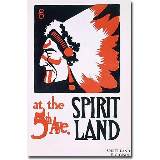 "Trademark Global FG Cooper ""Spirit Land"" Canvas Art, 24"" x 16"""