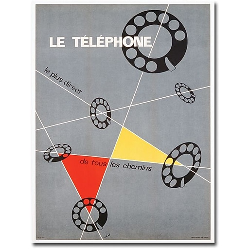 "Trademark Global Choi ""Le Telephone, 1937"" Canvas Art, 24"" x 18"""