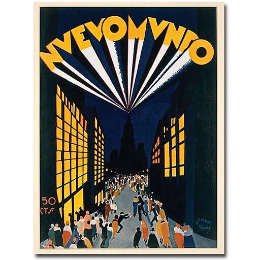 """Trademark Global Ochoa """"Nuovo Mondo Tadio City 1928"""" Canvas Art, 47"""" x 35"""""""