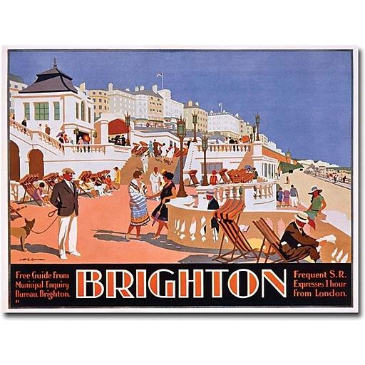 "Trademark Global Henry Gawthorn ""Brighton"" Canvas Art, 35"" x 47"""