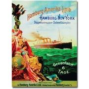 "Trademark Global ""Hamburg-America Line, 1987"" Canvas Arts"