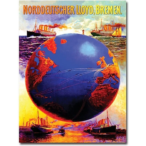 "Trademark Global Karl Von Eckenbrecher ""North German Lloyd Line"" Canvas Art, 24"" x 18"""