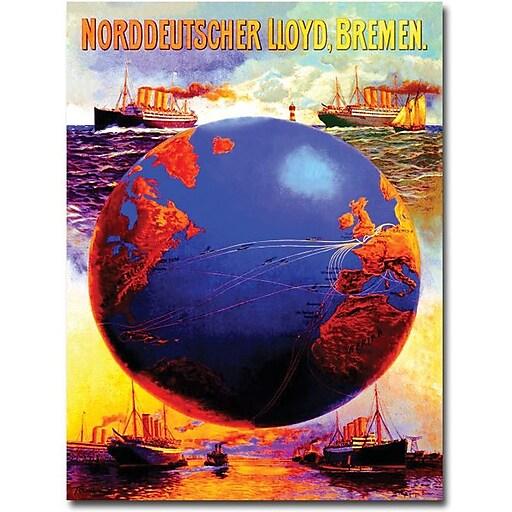 """Trademark Global Karl Von Eckenbrecher """"North German Lloyd Line"""" Canvas Art, 32"""" x 24"""""""