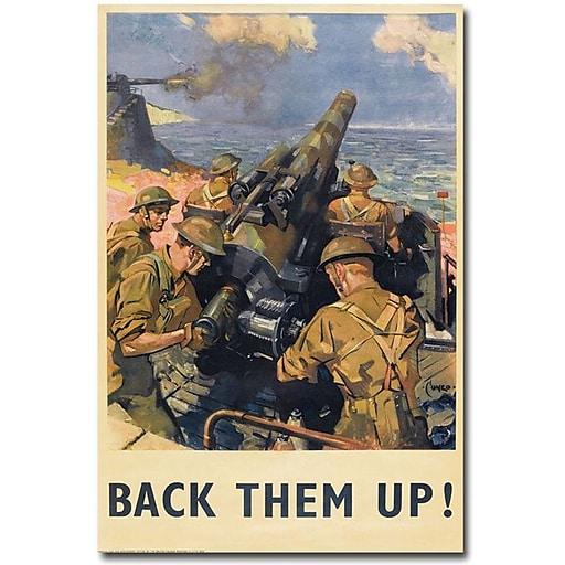 "Trademark Global ""Back Them Up 1941"" Canvas Art, 24"" x 16"""