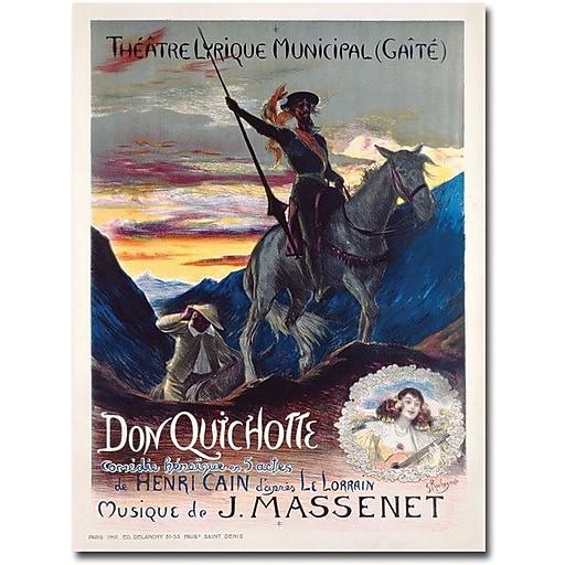 """Trademark Global Georges Rochegrosse """"Don Quichotte, 1910"""" Canvas Art, 47"""" x 35"""""""
