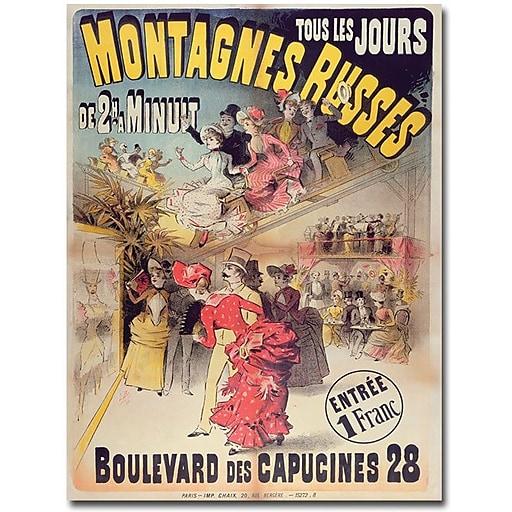 "Trademark Global ""Montagnes Russes, 1888"" Canvas Art, 24"" x 18"""