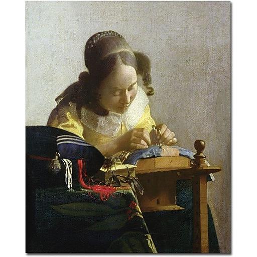 "Trademark Global Jan Vermeer ""The Lacemaker, 1669-70"" Canvas Art, 32"" x 26"""