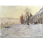 "Trademark Global Claude Monet ""Lavacourt Under Snow 1878 81"" Canvas Art, 14"" x 19"""