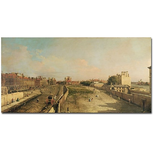 """Trademark Global Canaletto """"Whitehall"""" Canvas Art, 24"""" x 47"""""""