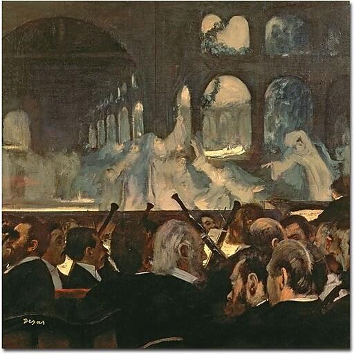 "Trademark Global Edgar Degas ""Robnert le Diable 1876"" Canvas Art, 24"" x 24"""