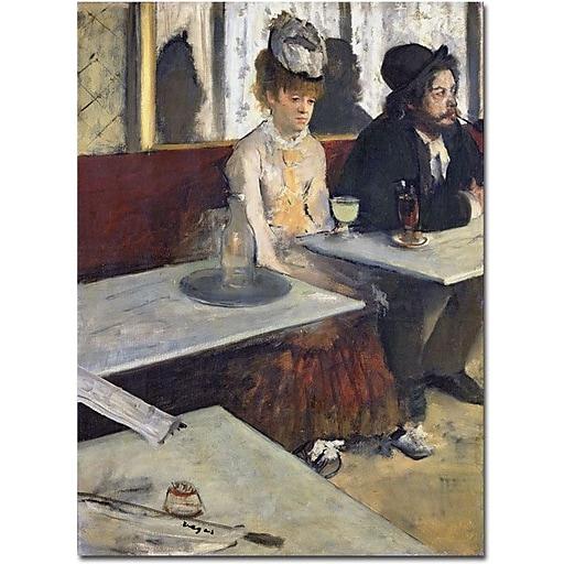 "Trademark Global Edgar Degas ""Absinthe, 1875-76"" Canvas Art, 32"" x 24"""