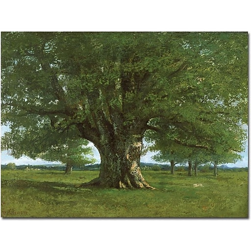 """Trademark Global Gustave Courbet """"The Oak of Flagey"""" Canvas Art, 18"""" x 24"""""""