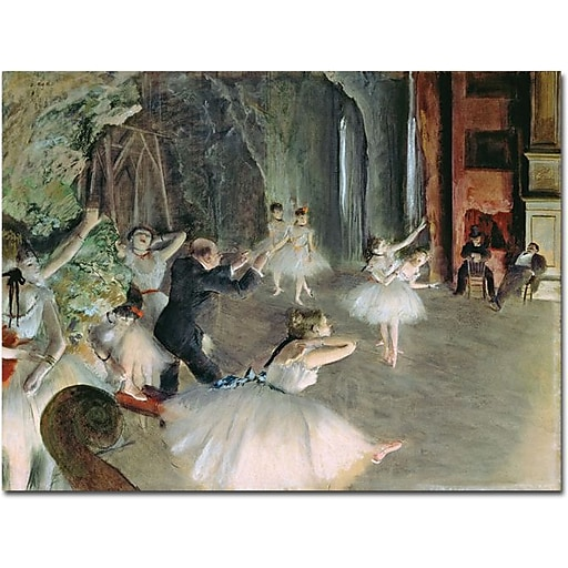 """Trademark Global Edgar Degas """"The Rehearsal of the Ballet on Stage"""" Canvas Art, 24"""" x 32"""""""