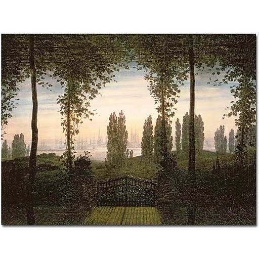 "Trademark Global Caspar David Friedrich ""Remembrence of Johann Bremen"" Canvas Art, 18"" x 24"""