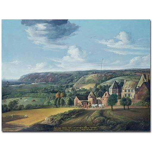 """Trademark Global Jan Griffier """"The View of Potrel Manor"""" Canvas Art, 18"""" x 24"""""""