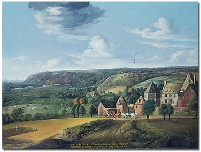 """Trademark Global Jan Griffier """"The View of Potrel Manor"""" Canvas Art, 35"""" x 47"""""""
