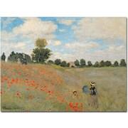 "Trademark Global Claude Monet ""Wild Poppies near Argenteuil"" Canvas Arts"