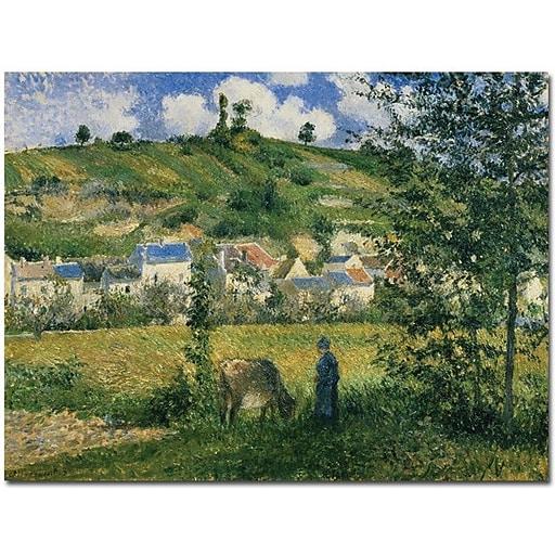 "Trademark Global Camille Pissarro ""Landscape at Chaponval 1880"" Canvas Art, 35"" x 47"""