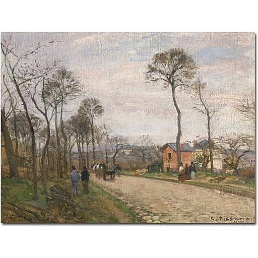 "Trademark Global Camille Pissarro ""The Road from Louveciennes, 1870"" Canvas Art, 26"" x 32"""
