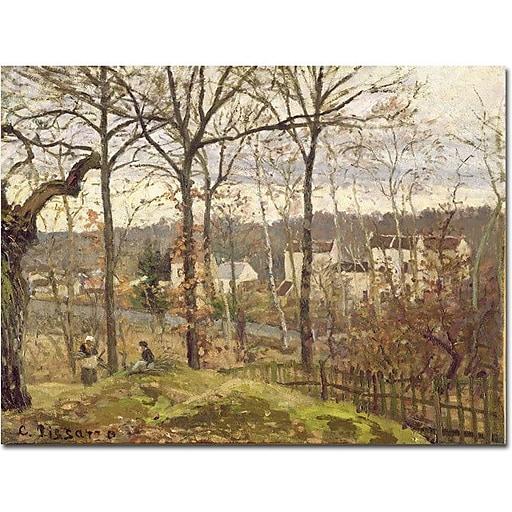 "Trademark Global Camille Pissarro ""Winter Landscape at Louveciennes 1873"" Canvas Art, 35"" x 47"""