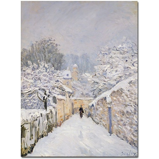 """Trademark Global Alfred Sisley """"Snow at Louveciennes 1878"""" Canvas Art, 47"""" x 35"""""""