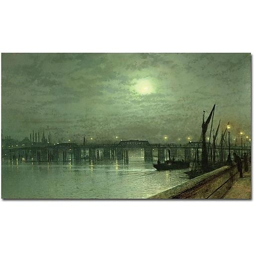 "Trademark Global John Atkinson Grimshaw ""Battersea Bridge by Moonlight"" Canvas Art, 30"" x 47"""