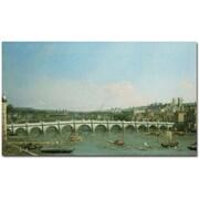"Trademark Global Canaletto ""Westminster Bridge"" Canvas Art, 30"" x 47"""