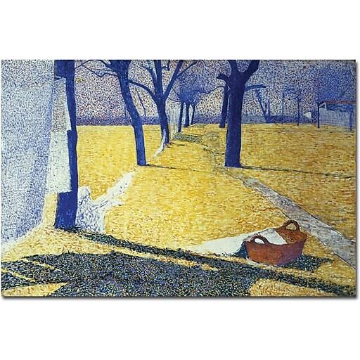 "Trademark Global Giuseppe Pellizza da Volpedo ""Washing in the Sun"" Canvas Art, 16"" x 24"""