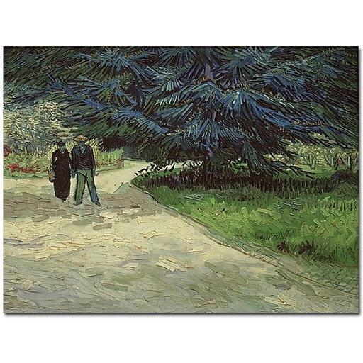 "Trademark Global Vincent Van Gogh ""Couple in the Park Arles, 1888"" Canvas Art, 18"" x 24"""
