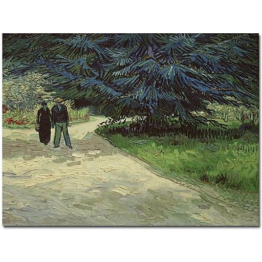 "Trademark Global Vincent Van Gogh ""Couple in the Park Arles, 1888"" Canvas Art, 26"" x 32"""