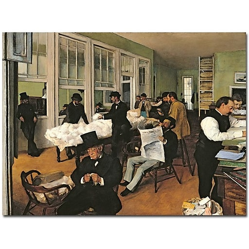 "Trademark Global Edgar Degas ""The Cotton Exchange, New Orleans, 1873"" Canvas Art, 26"" x 32"""