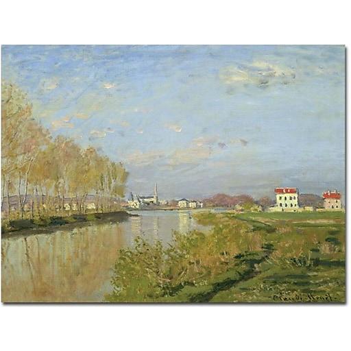 "Trademark Global Claude Monet ""The Seine at Argenteuil, 1873"" Canvas Art, 35"" x 47"""