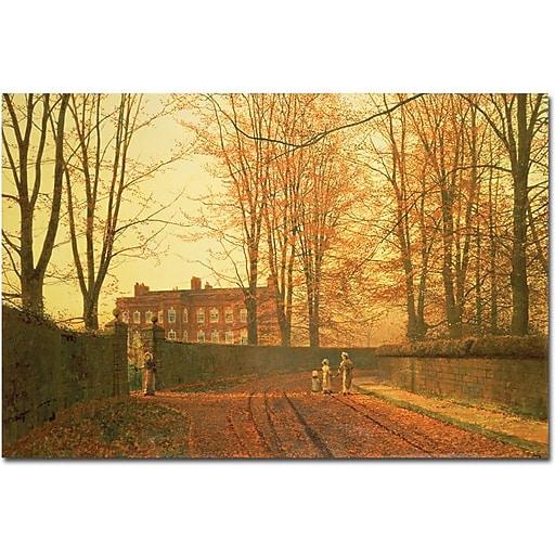 "Trademark Global John Atkinson Grimshaw ""Going to Church, 1880"" Canvas Art, 16"" x 24"""