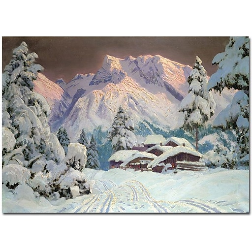 "Trademark Global Alwin Arnegger ""Hocheisgruppe, Austria"" Canvas Art, 16"" x 24"""