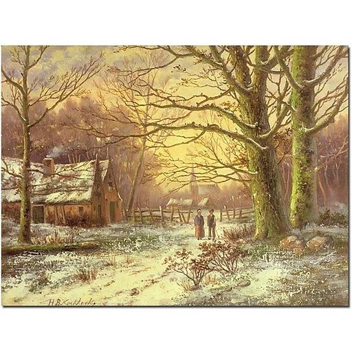 "Trademark Global John Atkinson Grimshaw ""South Side of Rydal Water"" Canvas Art, 35"" x 47"""